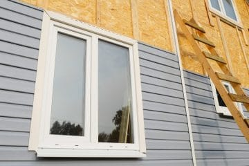 Fassadenbekleidung und Vorhangfassade