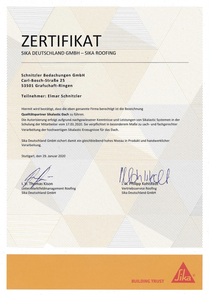 zertifikat-sika-roofing-elmar-schnitzler